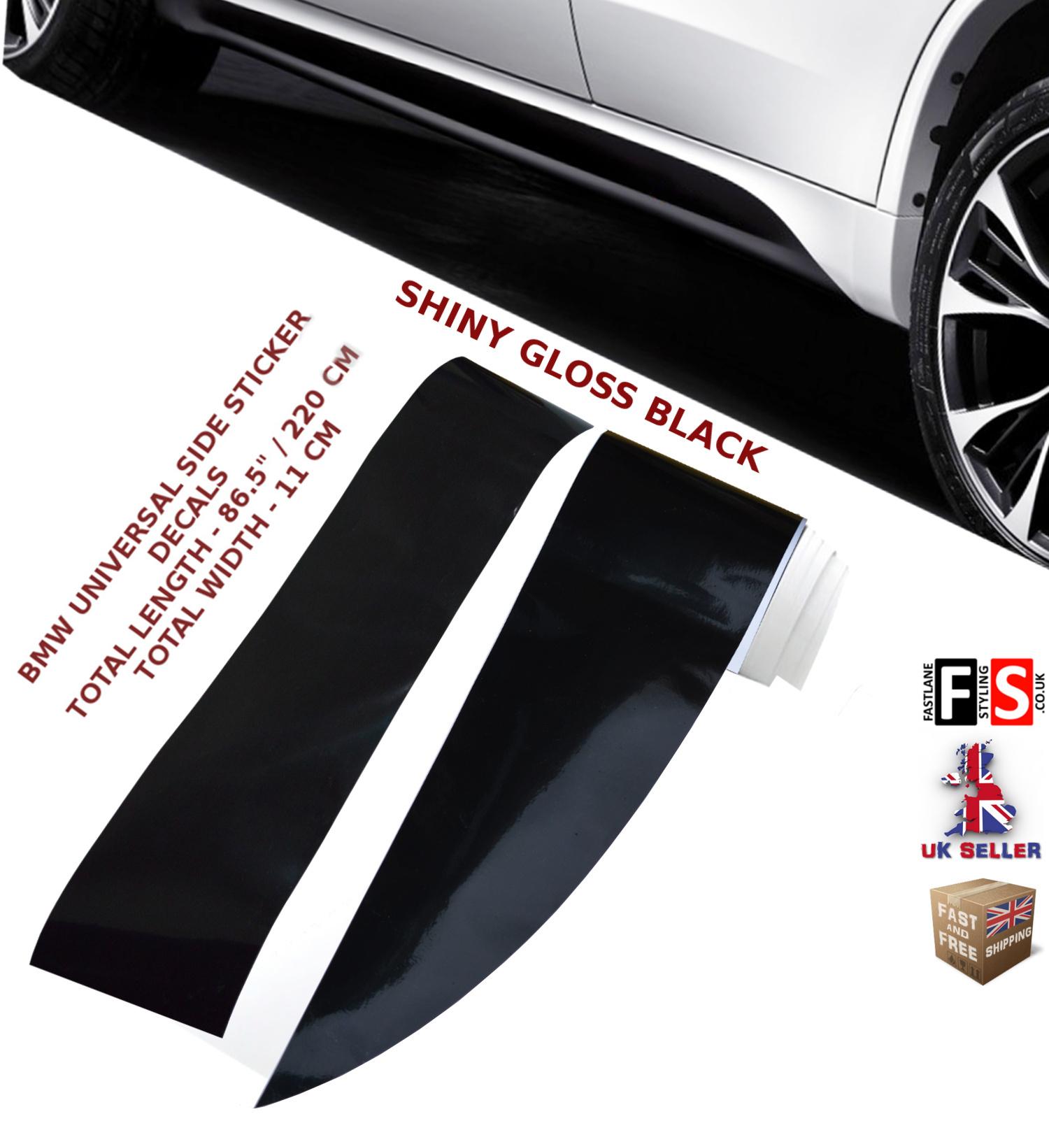 Details About Bmw 1 Series F20 F21 M Performance Side Sticker Skirts Decals Vinyl Gloss Black