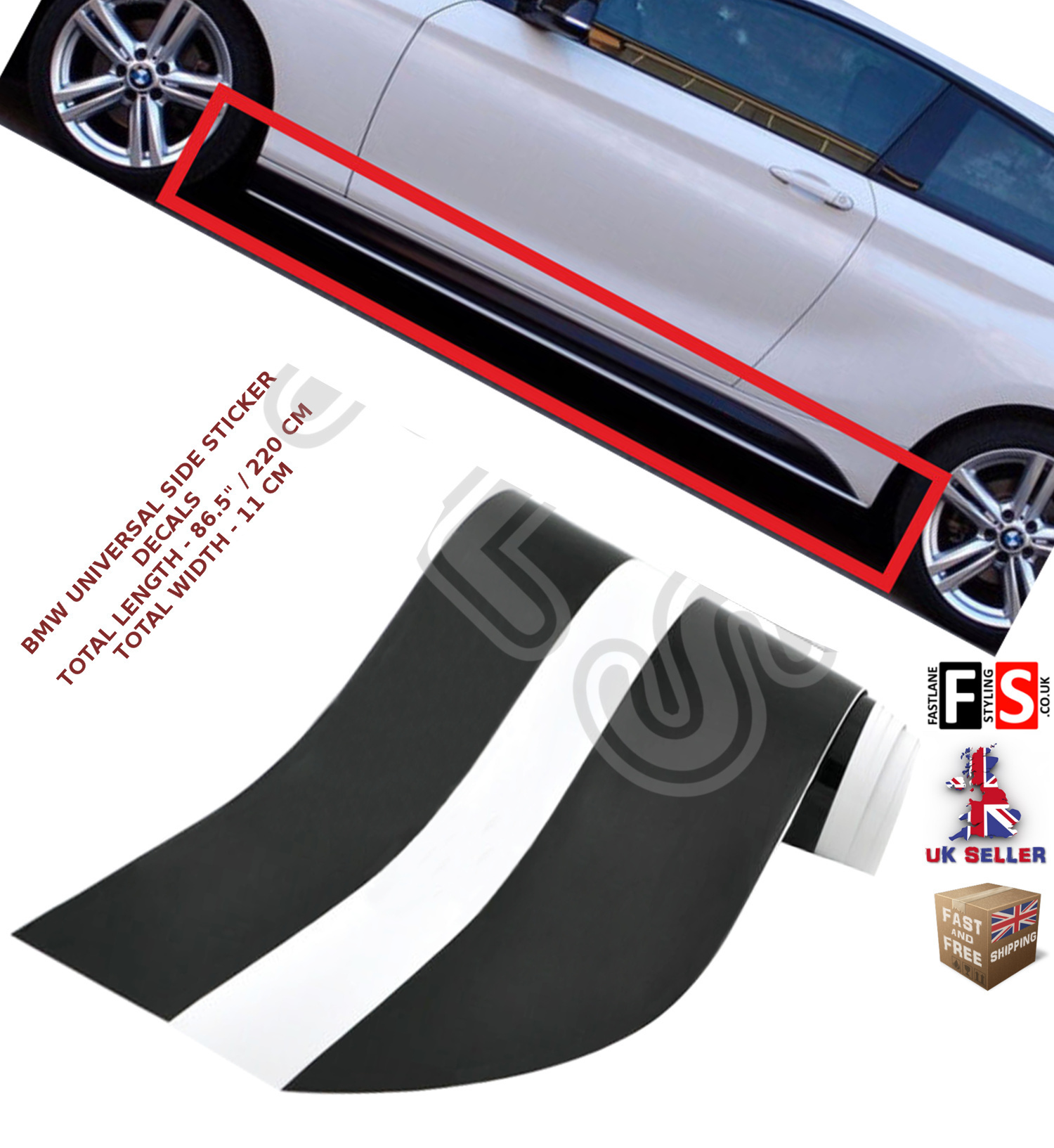 Details About Bmw 3 Series F30 F31 M Performance Side Stickers Skirts Decals Vinyl Graphics