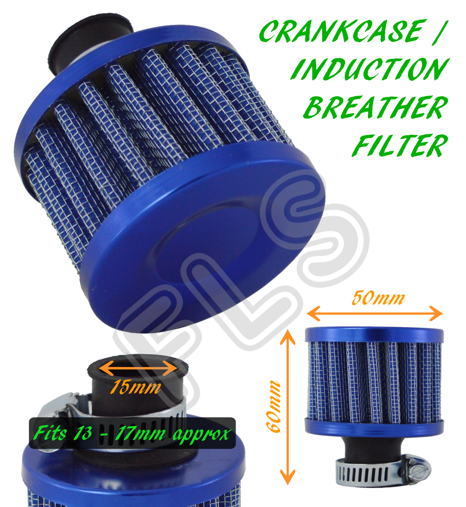 FUEL CRANKCASE ENGINE CAR VW 1 OIL MINI BREATHER AIR FILTER BLUE