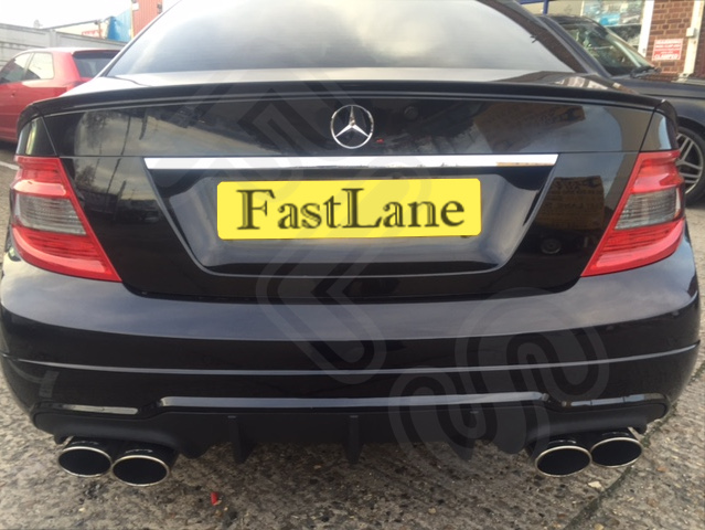 Mercedes C Custom Built Stainless Steel Exhaust Rear Dual System Amg