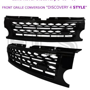 LAND ROVER DISCOVERY 3 FRONT GRILLE ALL BLACK DISCO 4 STYLE CONVERSION