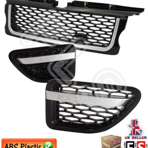 RANGE ROVER SPORT F/GRILLE & VENTS SET 05-09 AUTOBIOGRAPHY STYLE- BLACK SILVER