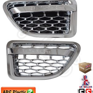 RANGE ROVER SPORT SIDE VENTS FITS 05-09 AUTOBIOGRAPHY STYLE – ALL CHROME