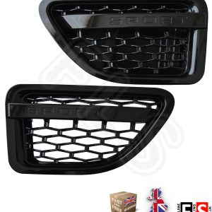 RANGE ROVER SPORT 05-09 AUTOBIOGRAPHY STYLE SIDE VENTS -GLOSS BLACK 100% OEM FIT