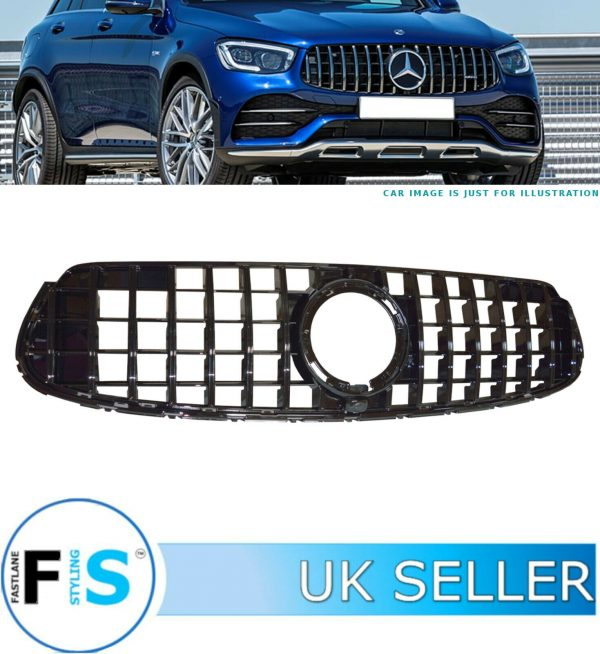 MERCEDES GLC CLASS X253 C253 FRONT GRILLE GT STYLE