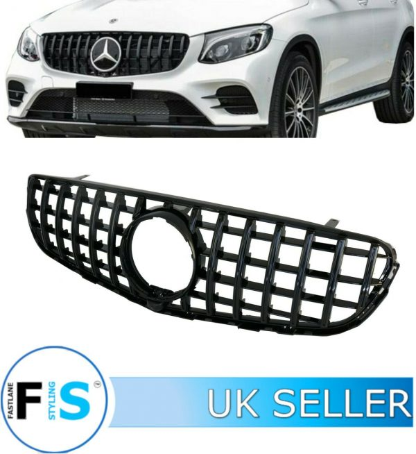 MERCEDES GLC X253 C253 FRONT GRILLE GT STYLE