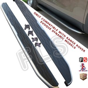 RANGE ROVER EVOQUE SIDE STEPS RUNNING BOARDS DYNAMIC MODELS BLACK EDITION 11+