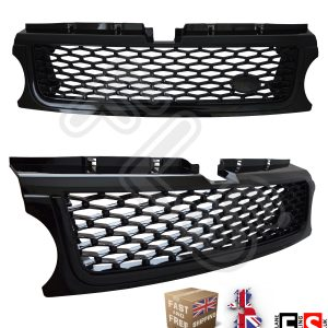 RANGE ROVER SPORT AUTOBIOGRAPHY STYLE 10-13 FRONT GRILLE-GLOSS BLACK-10RSFG-BBB