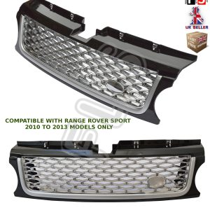 RANGE ROVER SPORT AUTOBIOGRAPHY 10-13 FRONT GRILLE – BLACK SILVER CHROME