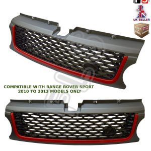 RANGE ROVER SPORT AUTOBIOGRAPHY STYLE 10-13 FRONT GRILLE – GREY BLACK & RED
