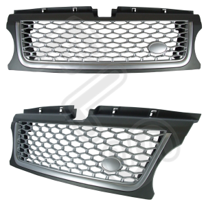 RANGE ROVER SPORT AUTOBIOGRAPHY 10-13 FRONT GRILLE – GREY & SILVER