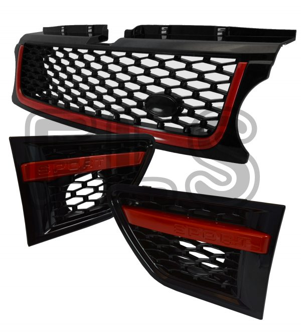 FRONT GRILLE & SIDE VENTS SET FOR USE ON RANGE ROVER SPORT 10-13