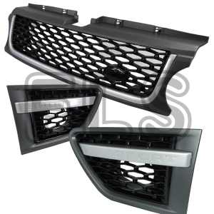 FRONT GRILLE & SIDE VENT SET FOR USE ON RANGE ROVER SPORT 10-13