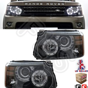 RANGE ROVER SPORT LED HEADLIGHTS PAIR 2010-2013 AUTOBIOGRAPHY LOOK CONVERSION