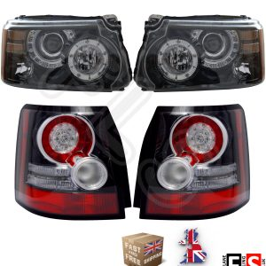 RANGE ROVER SPORT LED HEADLIGHTS & REAR TAIL LIGHTS SET AUTOBIOGRAPHY LOOK 05-13