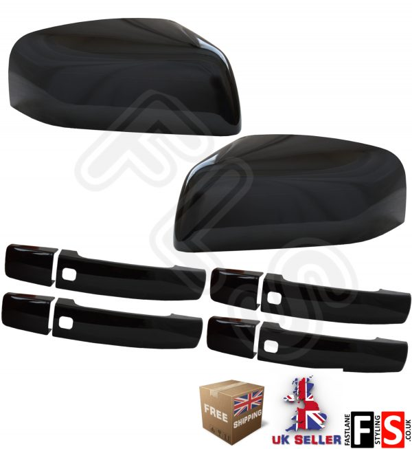 RANGE ROVER SPORT REPLACEMENT MIRROR & HANDLE COVERS 2010-2013-GLOSS BLACK