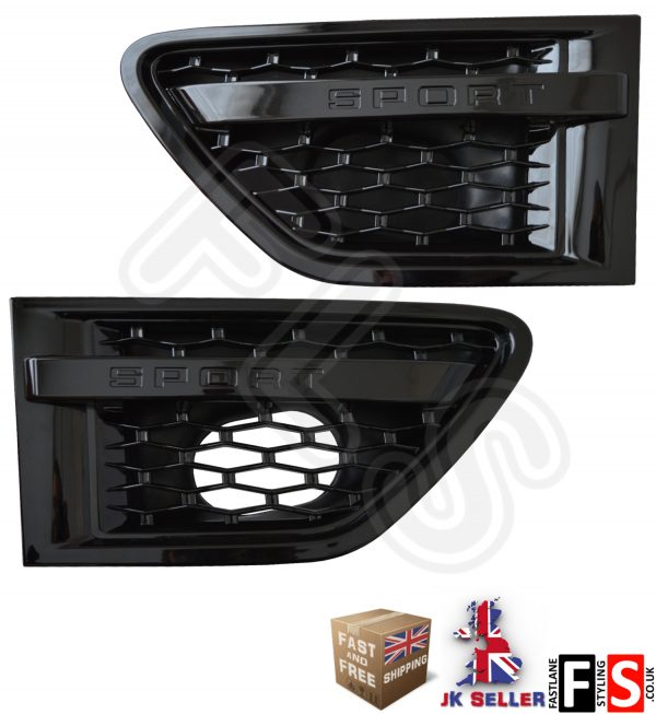 RANGE ROVER SPORT AUTOBIOGRAPHY 10-13 SIDE VENTS- ALL GLOSS BLACK – 10RSSV-BBB