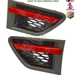 RANGE ROVER SPORT AUTOBIOGRAPHY STYLE 10-13 SIDE VENTS – GREY BLACK & RED