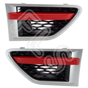 RANGE ROVER SPORT 10-13 SIDE VENTS GRILLE STEPS RED/BLACK/SILVER FRONT GRILLE