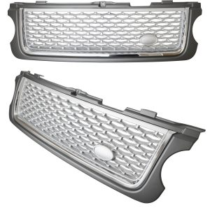 RANGE ROVER VOGUE 2010 – 2013 FRONT GRILLE – GREY SILVER & CHROME