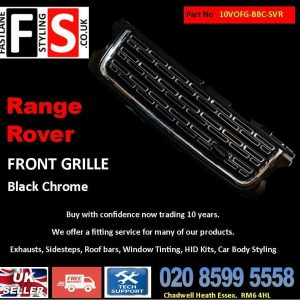 RANGE ROVER VOGUE L322 UPGRADE PERFORMANCE FRONT GRILLE 10-13 -BLACK & CHROME