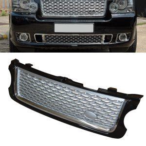 RANGE ROVER VOGUE L322 UPGRADE AUTOBIOGRAPHY FRONT GRILLE 10-13 -BLACK & SILVER