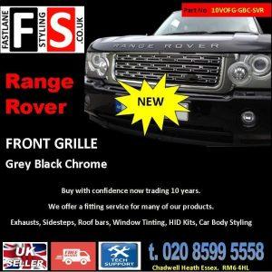 RANGE ROVER VOGUE L322 UPGRADE SVR STYLE FRONT GRILLE 10-13 -BLACK CHROME