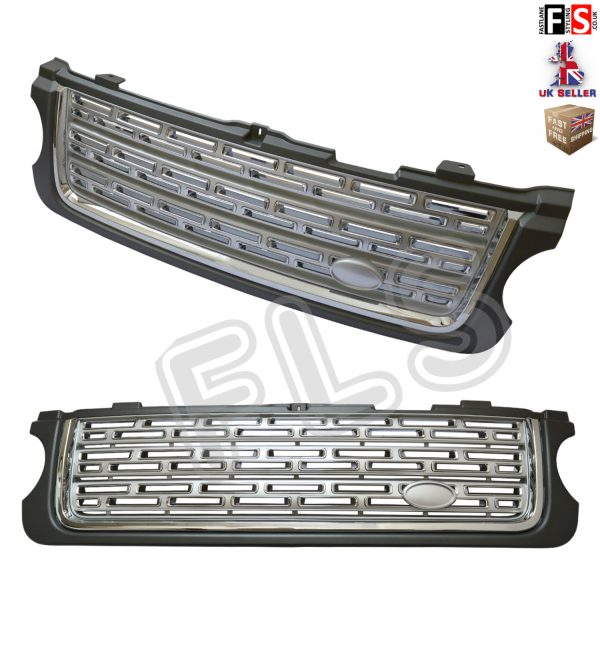 RANGE ROVER VOGUE L322 UPGRADE AUTOBIOGRAPHY FRONT GRILLE 10-13 -GREY & SILVER