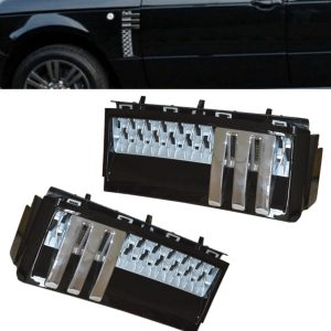 RANGE ROVER VOGUE L322 AUTOBIOGRAPHY SIDE VENTS BLACK SILVER & CHROME 10-13