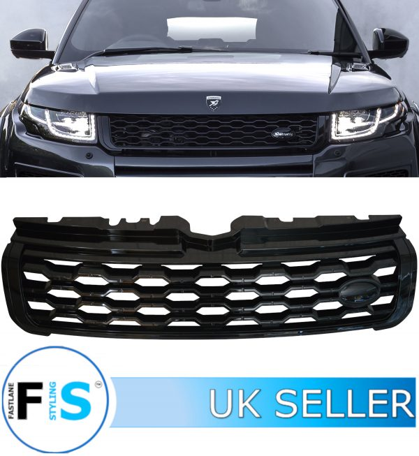RANGE ROVER EVOQUE FRONT GRILLE L538 2020 LOOK GLOSS BLACK