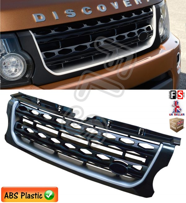 LAND ROVER DISCOVERY 4 FACELIFT FRONT GRILLE BLACK & SILVER