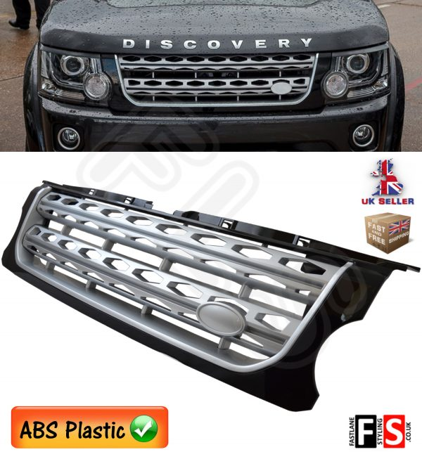 LAND ROVER DISCOVERY 4 FACELIFT FRONT GRILLE SILVER & BLACK