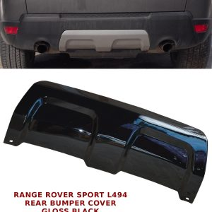 RANGE ROVER SPORT L494 REAR BUMPER TRIM PANEL TOW EYE COVER 13+ GLOSS BLACK