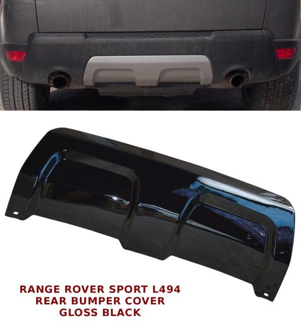 RANGE ROVER SPORT L494 REAR BUMPER TRIM PANEL TOW EYE COVER 13+ GLOSS BLACK