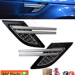 NEW SHAPE RANGE ROVER SPORT 2014 UP SIDE VENTS – BLACK & SILVER L494