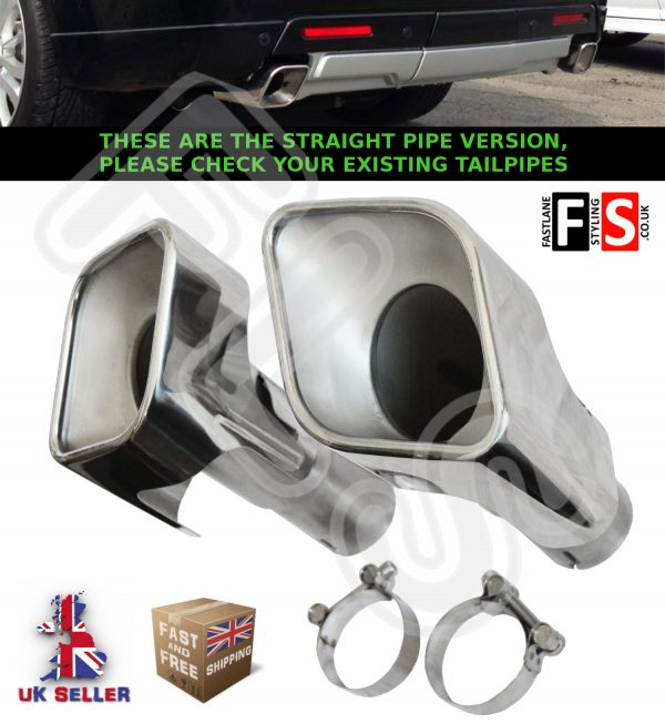 RANGE ROVER SPORT AUTOBIOGRAPHY L320 EXHAUST PIPES TAILPIPES TAIL PIPE