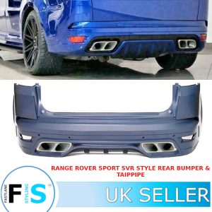 RANGE ROVER SPORT L494 SVR STYLE REAR BUMPER BODY KIT TAILPIPES