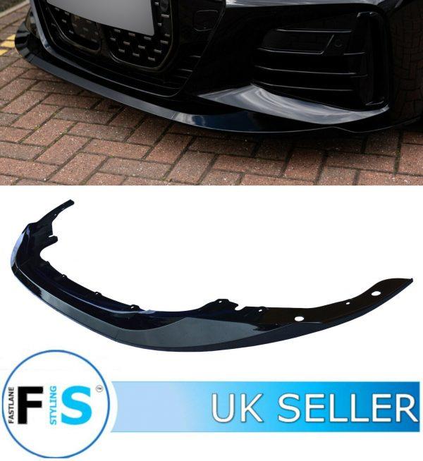 BMW 4 SERIES FRONT LIP SPLITTER G22 G23 M PERFORMANCE STYLE