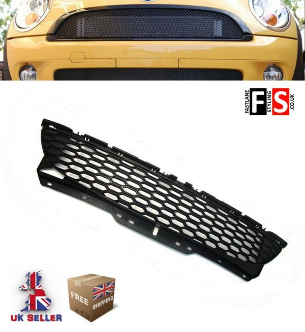 Mini Cooper S R56 R57 R58 R59 Gloss black front grille bumper bonnet 06-15