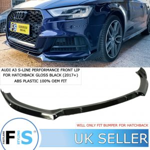 AUDI A3 S3 S-LINE HATCHBACK PERFORMANCE FRONT LIP SPLITTER