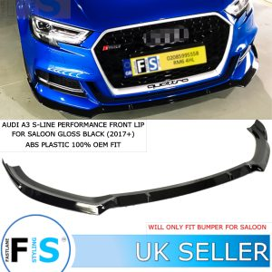 AUDI A3 S3 S-LINE PERFORMANCE FRONT LIP SPLITTER