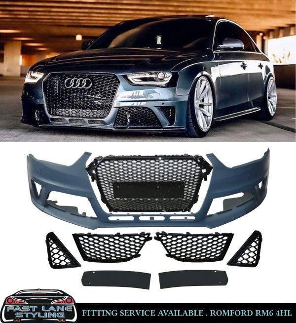AUDI A4 RS4 STYLE FRONT BUMPER BODYKIT