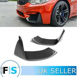 BMW F80 F82 F83 M3 M4 CARBON FIBRE FRONT SPLITTER LIP SPOILER PODS