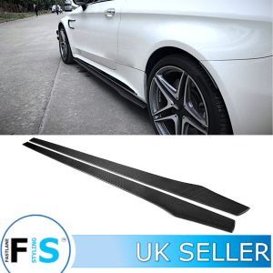 MERCEDES C63 C205 W205 AMG CARBON FIBRE SIDE EXTENSION BLADES