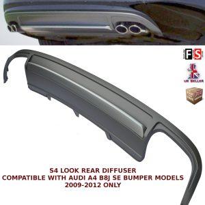 AUDI A4 B8 S4 LOOK QUAD REAR BUMPER DIFFUSER