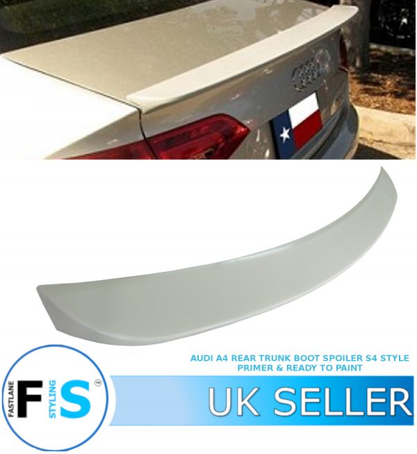 AUDI A4 S4 STYLE REAR BOOT TRUNK BOOT LIP SPOILER