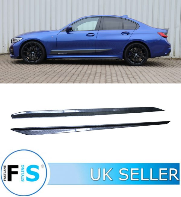 BMW 3 SERIES G20 G21 CARBON FIBRE LOOK SIDE SKIRTS