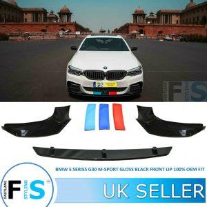 BMW G30 G31 M-PERFORMANCE FRONT LIP GLOSS BLACK