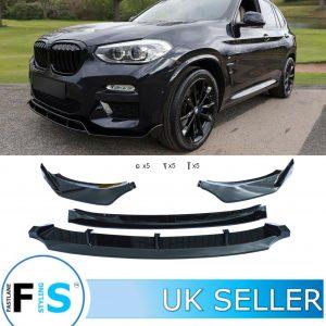 BMW X3 X3M G01 M SPORT STYLE FRONT LIP SPLITTER
