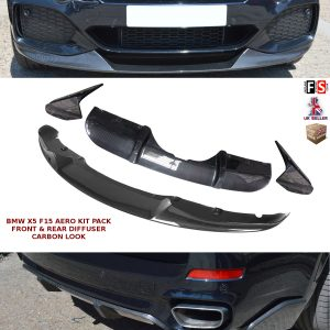 BMW X5 F15 AERO KIT FRONT SPLITTER LIP REAR DIFFUSER PACK